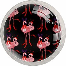 35mm Cabinet Knobs Christmas Hat Flamingo Round
