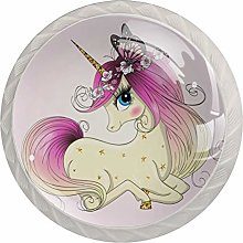 35mm Cabinet Knobs Unicorn with Big Eyes Round