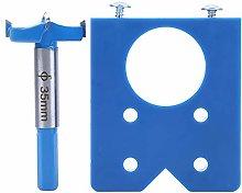 35mm Hinge Jig Kit Blue ABS Plastic Hinge Punching