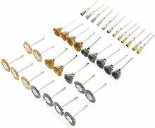 35Pcs Wire Brush Polishing Wheel Brass Steel