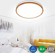 35W Wooden LED Ceiling Lights 3000K-6500K Dimmable