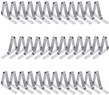 36 Pack Tablecloth Clips, Stainless Steel Table