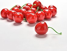 36Pieces Little Red Black Cherries Fake