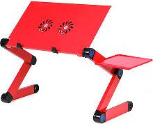 360¡ãAdjustable Folding Laptop Desk Black
