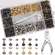 360 PCS Leather Rivets Double Cap Rivet Buttons