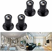 [360°Rotate]4 Pack Small Recessed Mini
