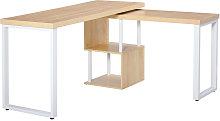360° Rotating Corner Desk L-Shaped PC Workstation