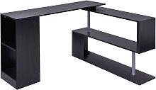 360° Rotating Corner Desk Storage Shelf Combo