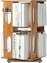 360° Rotating Multilayer Desktop Bookshelf Bamboo