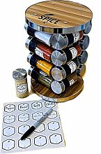 360 Spice Rack | Decorative Spice Racks | 16 Glass