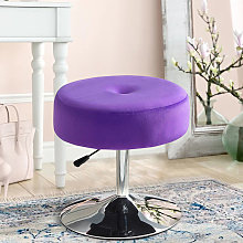 360° Swivel Velvet Stool Gas Lift Dressing Table