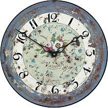 36cm Antique Rose Wall Clock Roger Lascelles Clocks