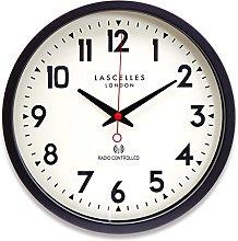 36cm Black Radio Controlled Wall Clock -