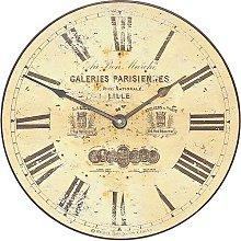 36cm Parchment Coloured Antique Dial Wall Clock