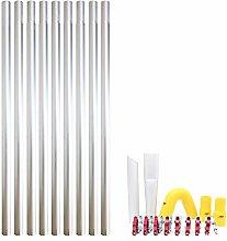36ft 10.8m Long Reach Gutter Vacuum Pole Kit Set