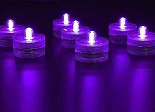36pack Purple Waterproof Round Submarine Mini LED