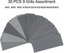 36pcs/Set Sandpaper Waterproof Abrasive Paper Sand