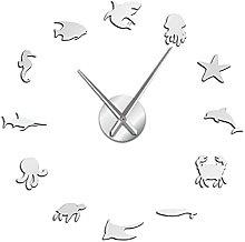 37 Inch Wall Clock Kitchen Modern Aquatic Animals