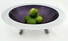 37cm Footed Serving Bowl Mazali Colour: Purple