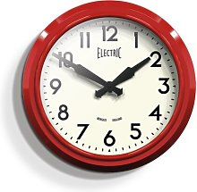 37cm Wall Clock Newgate Colour: Red