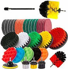 37Pcs Drill Brush Power Scrubber Set with Extend