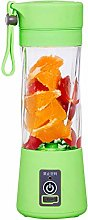 380ml Mini Electric Fruit Juicer Cup USB Smoothie