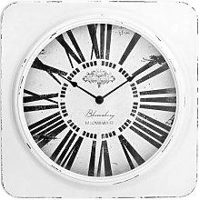 38cm Antique Square Wall Clock House of Hampton