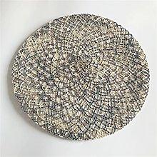 38CM Placemats Round Woven Placemats Crochet Doily