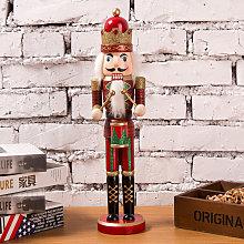 38CM Wooden Nutcracker Soldier Handcraft Walnut
