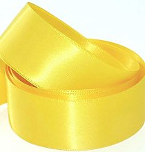 38mm Satin ribbon Yellow in 5 meters - GCS London®