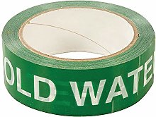 38mm x 33m COLD WATER Identification Adhesive Tape