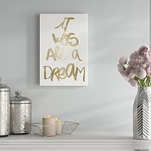 'A Dream' - Wrapped Canvas Typography