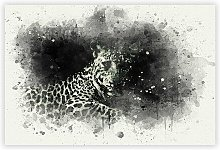 'A Leopard' - Painting Print on Paper