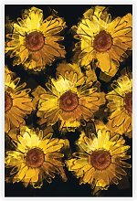 'A Wall of Yellow Sunflowers' - Painting