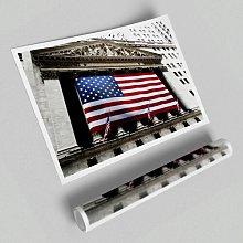 'American Flag Wall Street' - Unframed