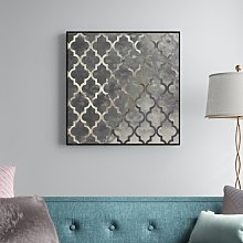 'Arabesque Silver' Graphic Art Print