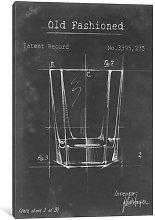 'Barware Blueprint I' Graphic Art on