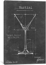 'Barware Blueprint V' Graphic Art on