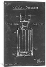 'Barware Blueprint VII' Graphic Art on