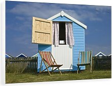 'Beach Huts' Photographic Print on Canvas