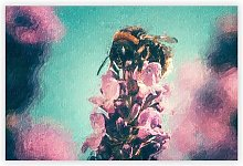 'Bee on a Purple Flower' by Charles d'