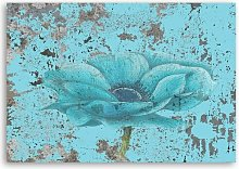 'Blue Orchid' - Wrapped Canvas Painting