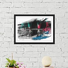 'Body Building Fitness Weights' Framed Art