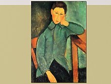 'Boy in a Blue Jacket' Painting Print East