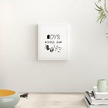 'Boys Will Be Boys Nursery' Typography