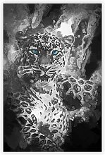 'Bright Eyed Leopard' - Graphic Art Print