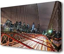 'Brooklyn Bridge Speed of Light New York'