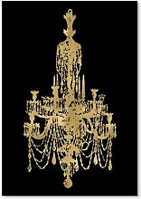 'Chandelier ' by Amy Brinkman Graphic Art