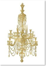 'Chandelier' by Amy Brinkman Graphic Art