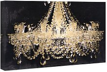 'Chandelier Gold' Painting on Wrapped